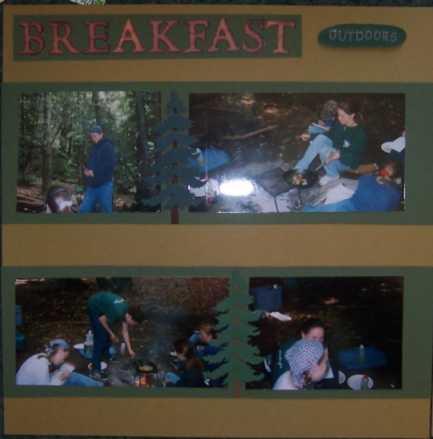 Breakfast Outdoors Left Side