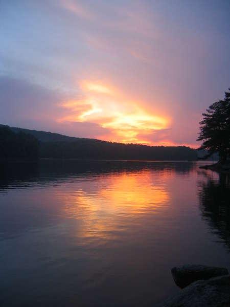 Sunset over Lake Allatoona