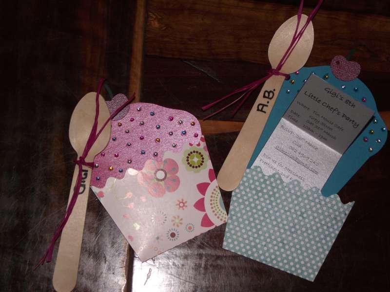 Cupcake Birthday Invite
