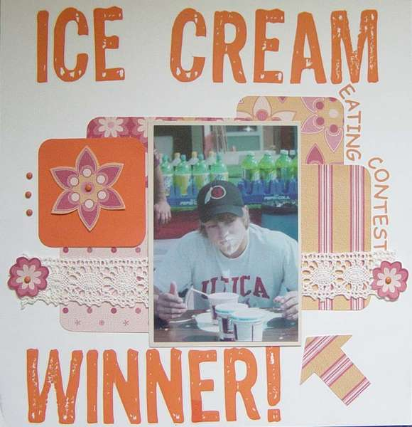 Ice Cream Eating Contest Winner