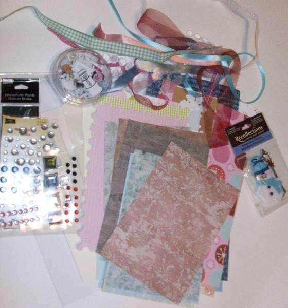 January Snow/Bling Card Kit