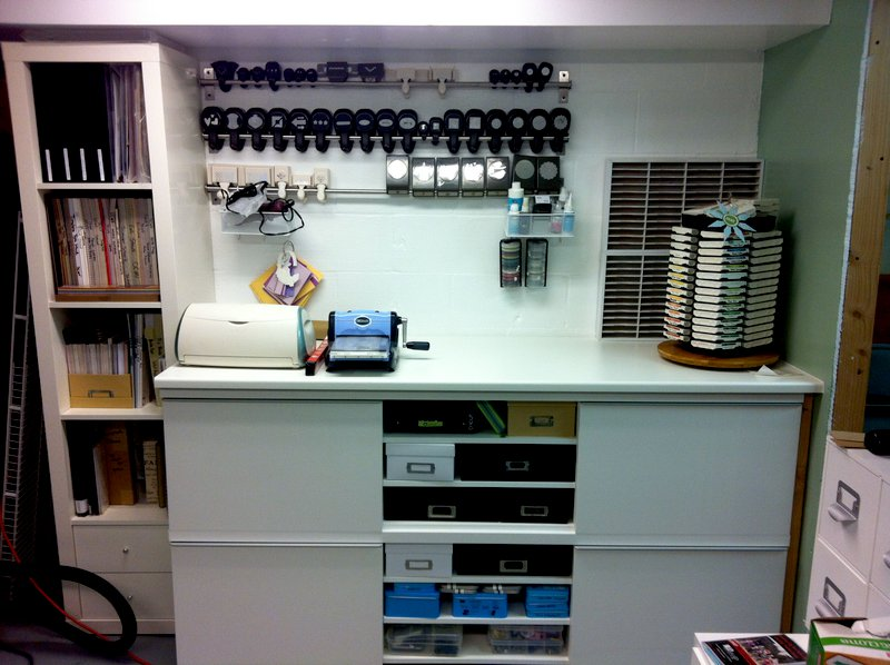 punch wall and stamping station