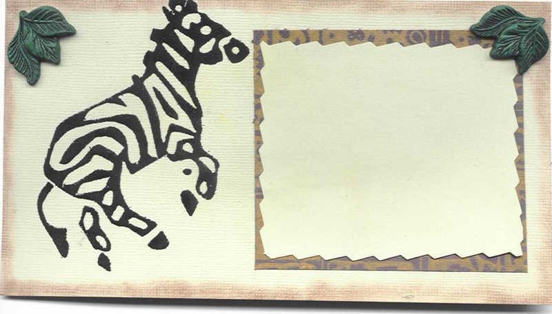Journaling Box: Zoo/Zebra