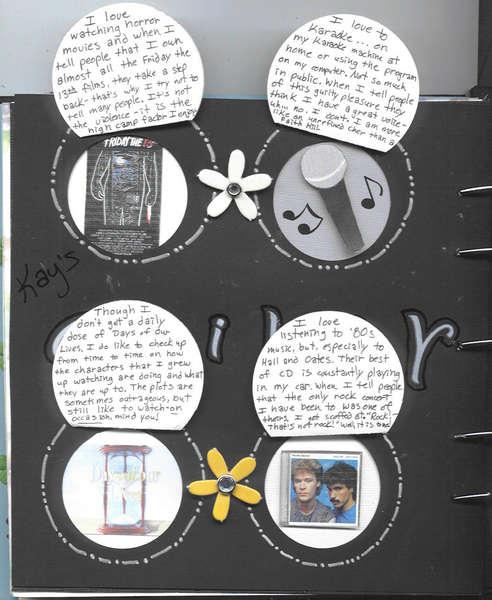 Megan's Circle Journal: page 1 open