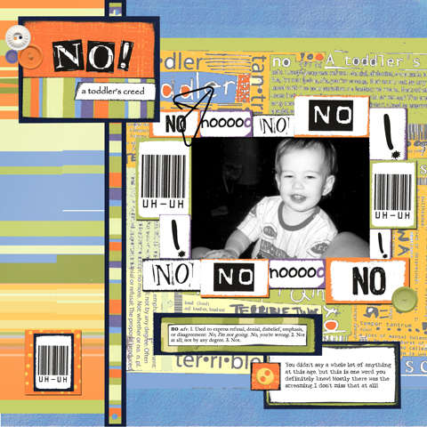 No! A Toddler's Creed