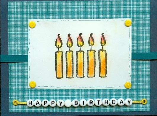 Candle Birthday Card
