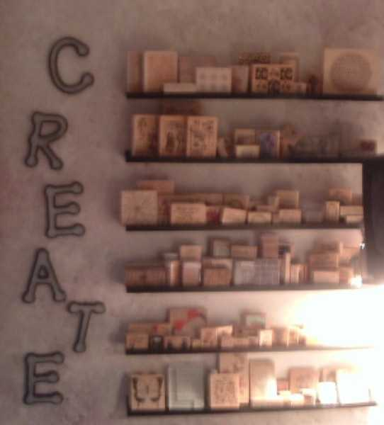Rubber Stamp Shelves