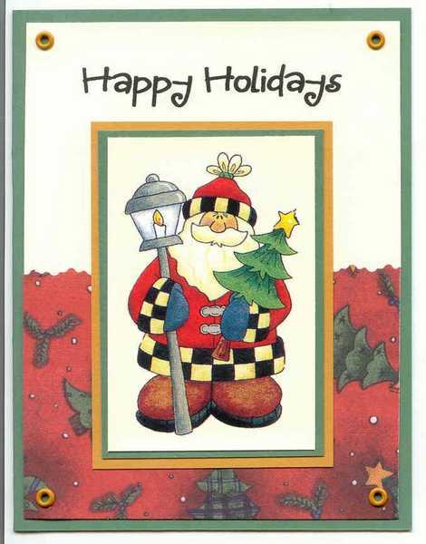 Christmas Card (using rub-ons)