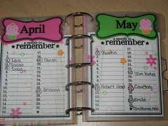 April/May Birthday/Anniversary reminder *