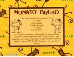 Monkey Bread Recipe Card