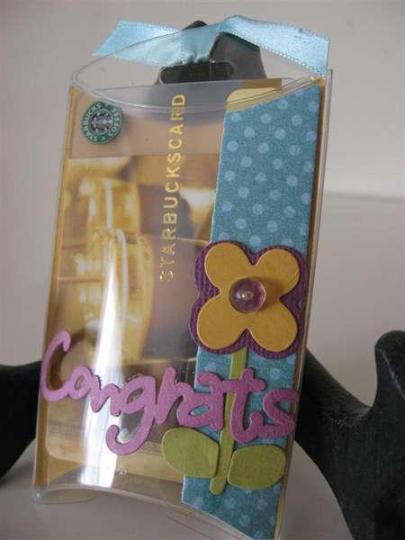 Pillow box gift card holder