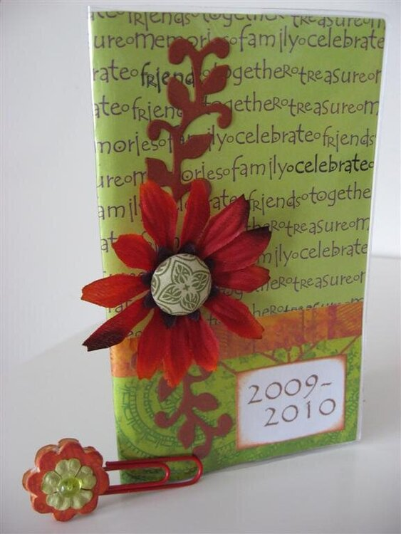 Altered 2-year Planner and altered paperclip