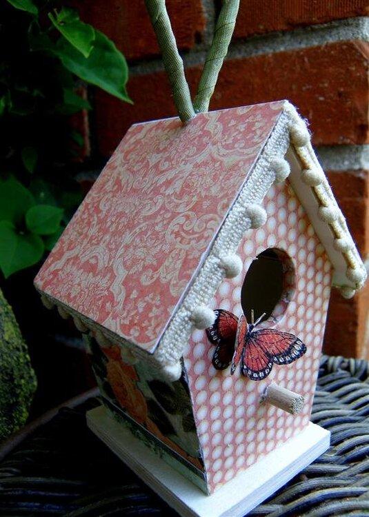 Le Romantique altered birdhouse