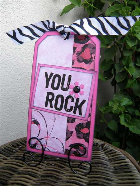 """""""You Rock"""" gift tag"""