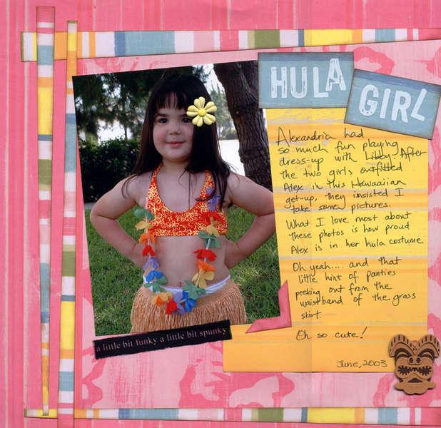 Hula Girl, left