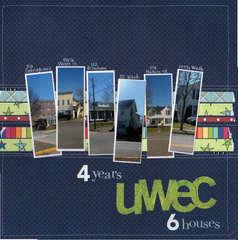 4 years UWEC 6 houses