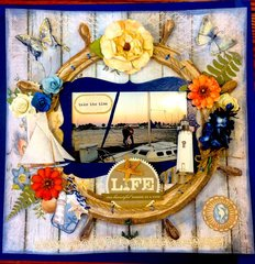 A Night on Lake Michigan- Paperhouse Studio, Kaisercraft, Blue Fern Studio, Prima