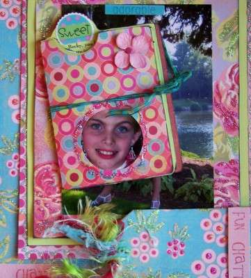 Pretty in Pink - Page 2 with Card Folder pulled out