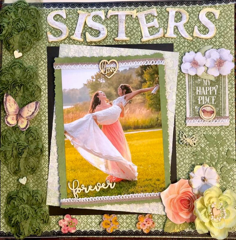 My daughter and daughter in law on her wedding- Sisters forever graphic 45