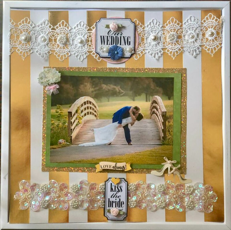 Romanic Wedding--kiss the bride  My Mind's Eye