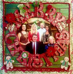 Merry Christmas Leffler Family Portrait- Graphic 45 and Kaisercraft