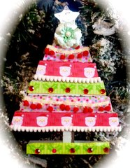 Altered Christmas Tree- Doodlebug Prima