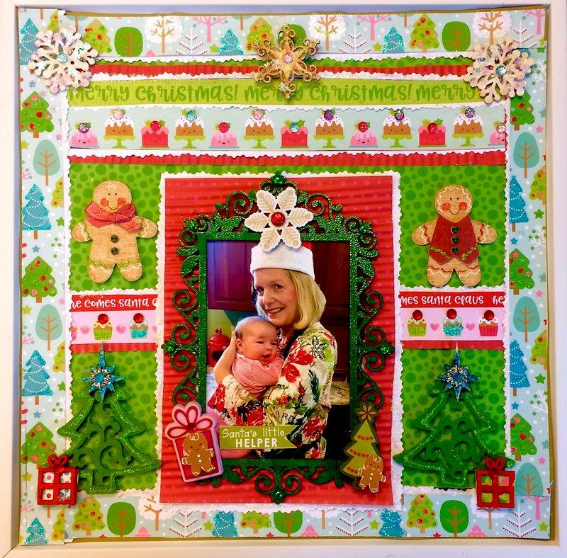 Santa's little helper-Chistmas Doodlebu, Kaisercraft