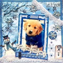 Snow Dog-Winter fun  Kaisercraft and Reminisce