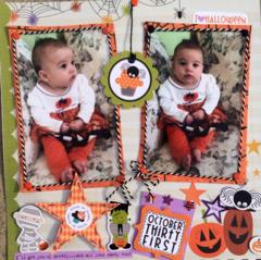 A little Pumpkin on her first Halloween