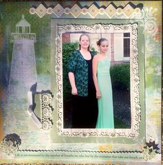 Lighthouse Wedding, Mom and Daughter