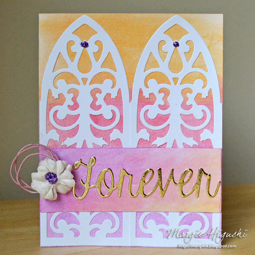 Forever Wedding Card Using Adhesive Sheets
