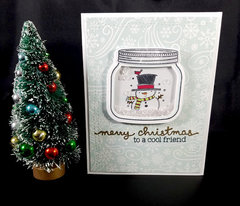 Christmas snowman shaker card