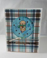 Winter Otter shaker card