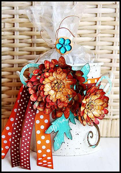 Fall Flower Bucket