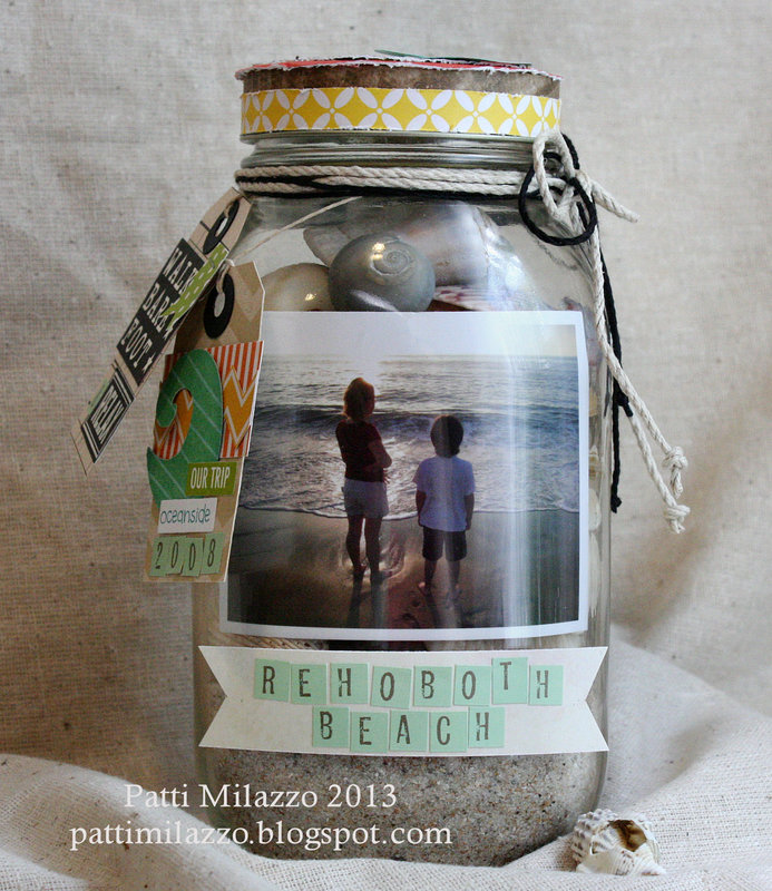 Beach Photo Memory Jar
