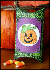 Jack-o-lantern treat container