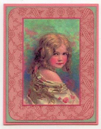 Vintage Girl Notecard
