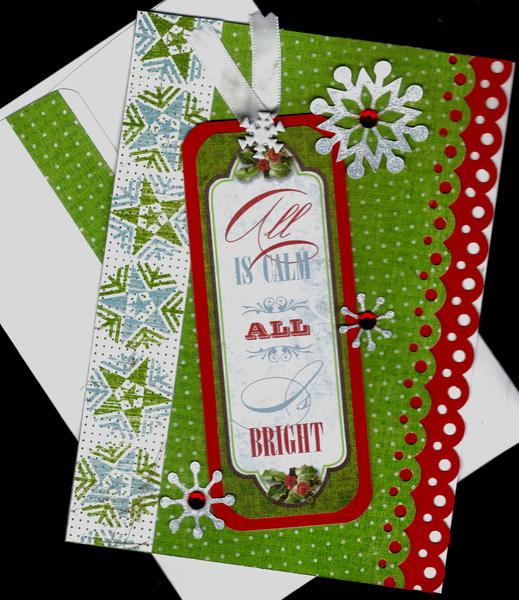 All Is Calm All Is Bright Xmas Card