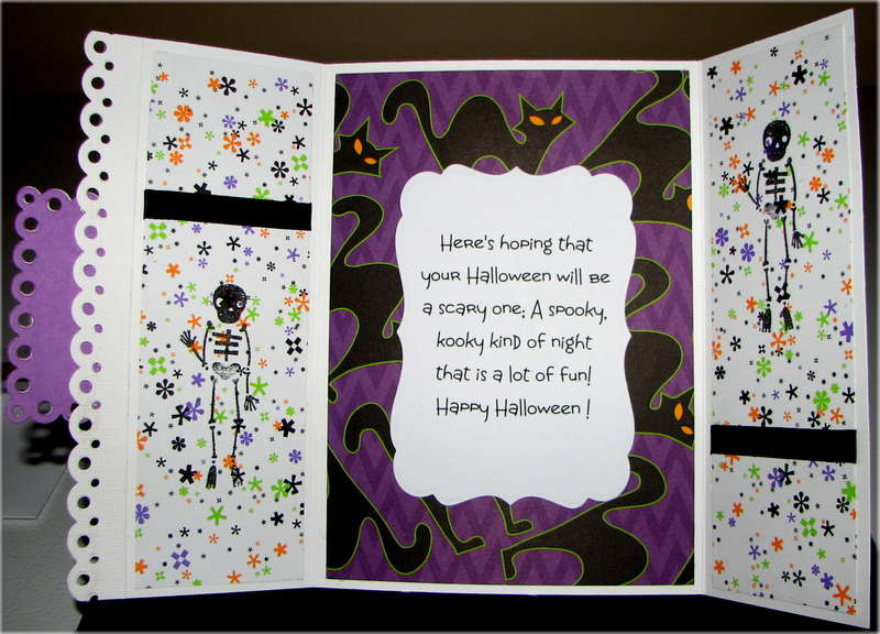 Black Cats Only Halloween Card Inside