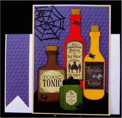 Bottles 01 Halloween Card