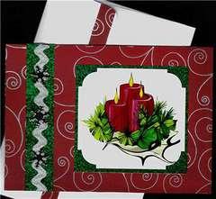 Candles Christmas card