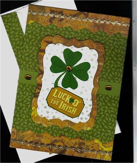 Clover Luck 'O the Irish St. Patrick's Day card