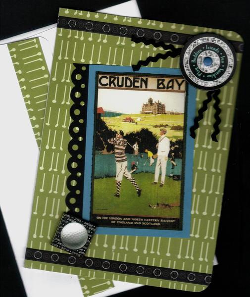 Cruden Bay Golf Birthday Card
