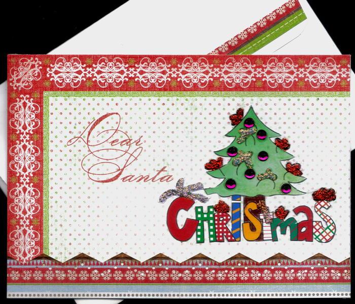 Dear Santa Tree Xmas Card 2