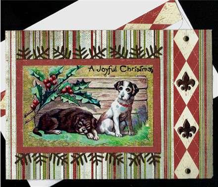 Dogs Joyful Christmas card