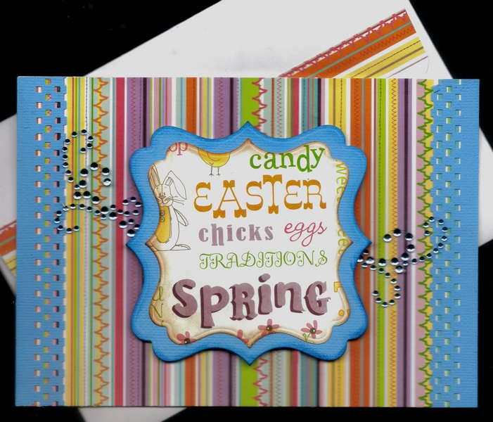 Easter Spring Words Easter Card