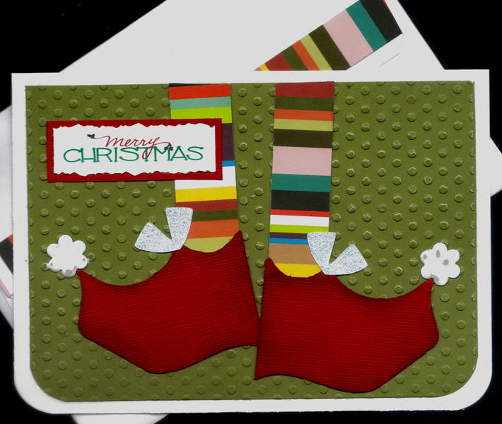 Elf Shoes 2 Red Xmas Card