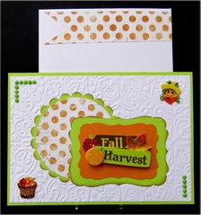 Fall Harvest White Thanksgiving Card
