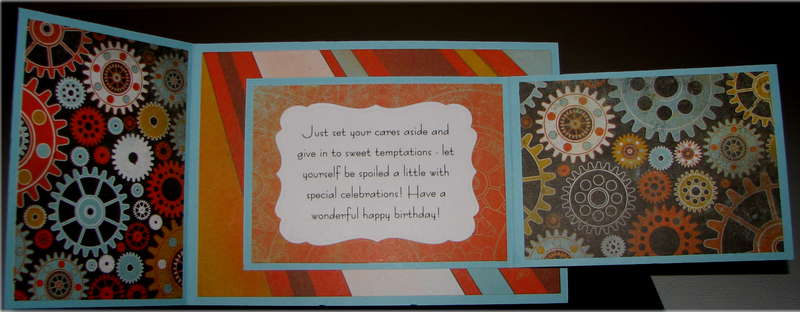 Gears And Clock Birthday Card Inside