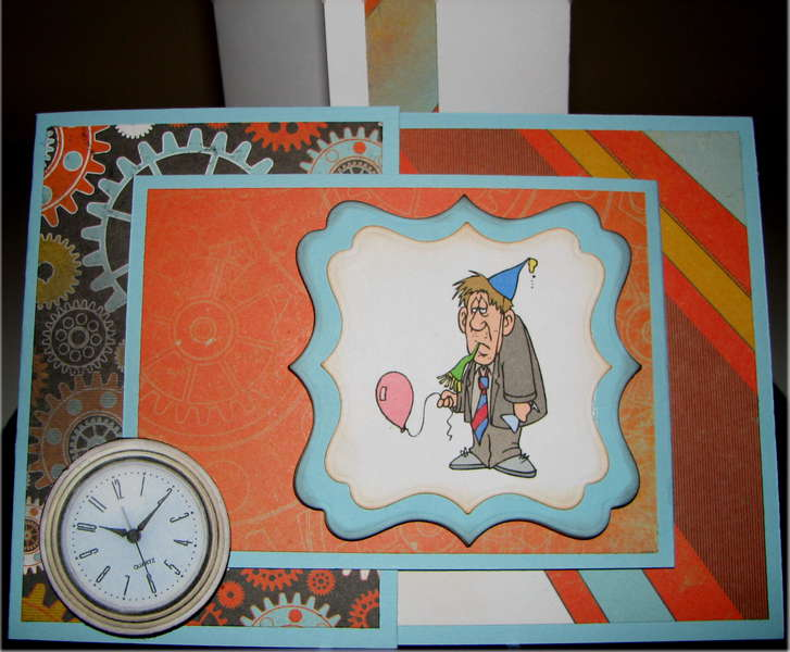 Gears And Clock Birthday Card